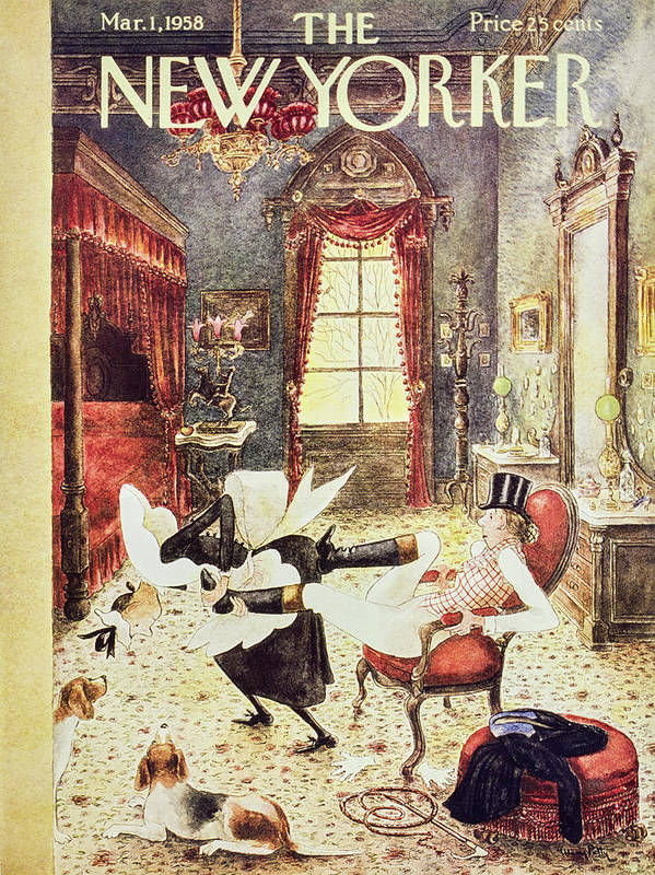 Maid Art Print featuring the painting New Yorker March 1 1958 by Mary Petty