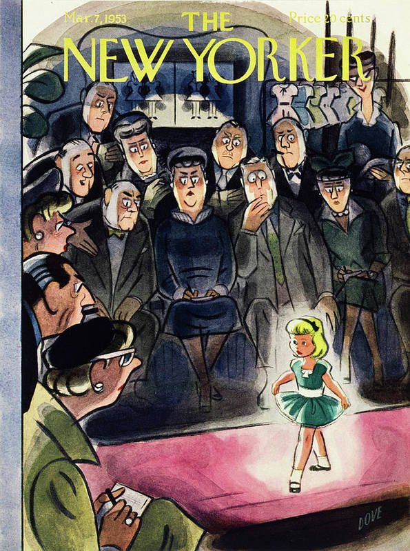 Little Girl Art Print featuring the painting New Yorker March 7 1953 by Leonard Dove