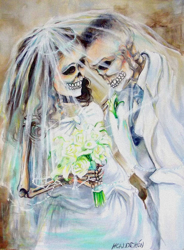 Day Of The Dead Art Print featuring the photograph Newly Deads by Heather Calderon