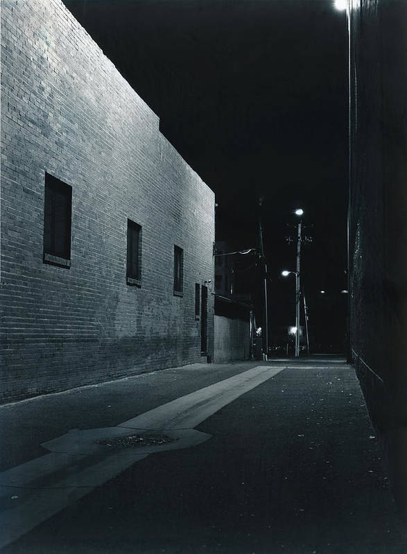 Night Art Print featuring the photograph Night Alley To Main Street by Jim Furrer