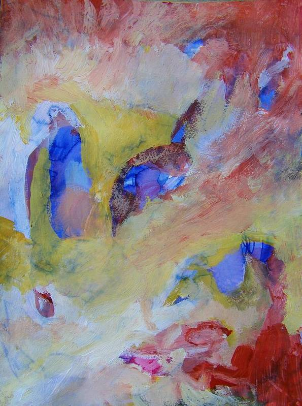 Abstract Art Print featuring the painting No Answers by Judith Redman