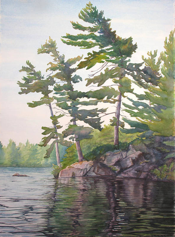 Rocks Art Print featuring the painting O Canada No.2 by Debbie Homewood