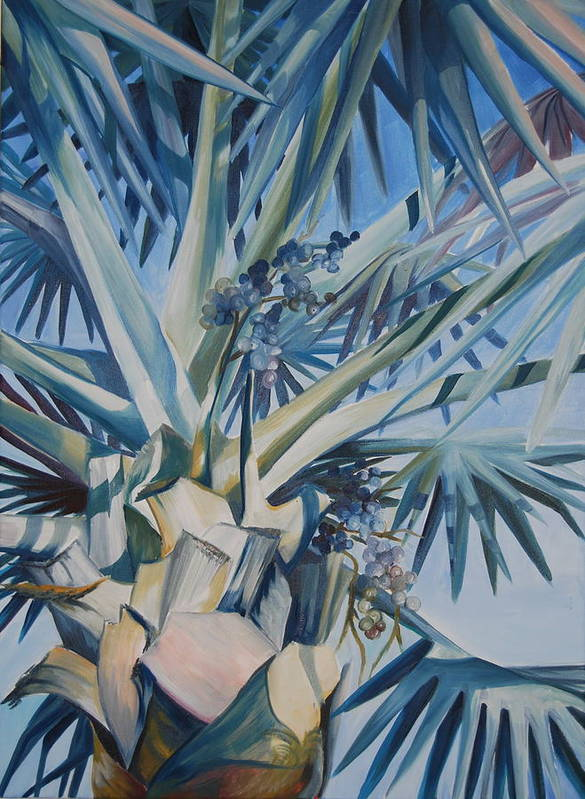 Tree Art Print featuring the painting Palm by Katherine Fyall