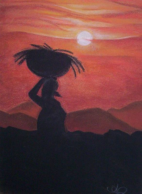 Landscape.angela Art Print featuring the painting Passhby by Angela Mustin