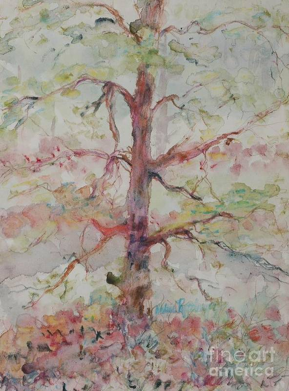 Forest Art Print featuring the painting Pastel Forest by Nadine Rippelmeyer