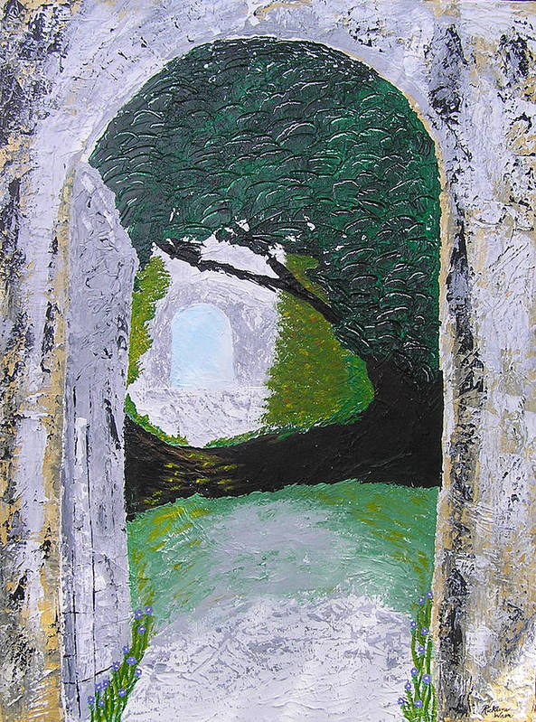 Path Art Print featuring the painting Pathway To Peacefullness by Ricklene Wren