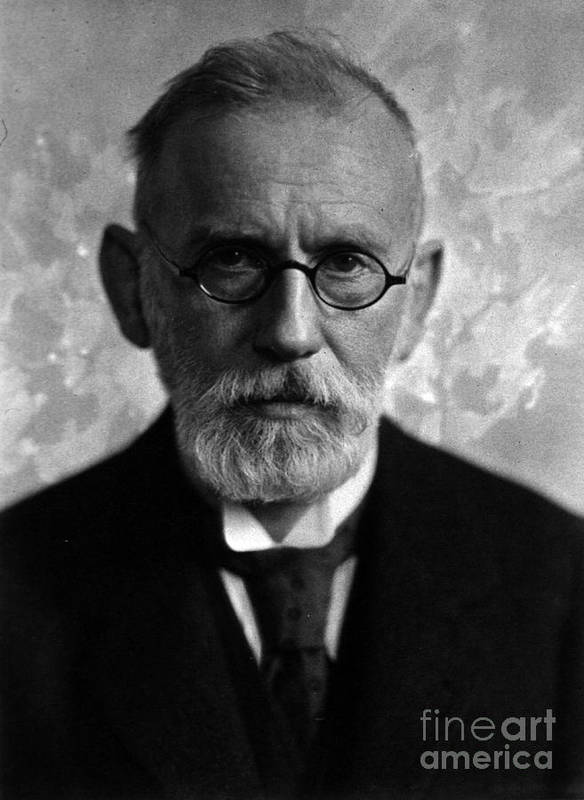 Science Art Print featuring the photograph Paul Ehrlich, German Immunologist by Science Source