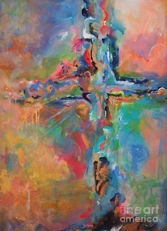 Christian Art Art Print featuring the painting Peace Accord by Deb Magelssen