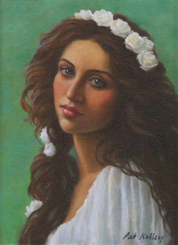 Beautiful Woman Art Print featuring the painting Persephone by Pat Kelley
