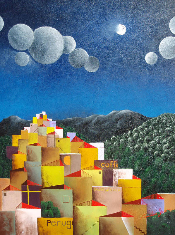 Italy Art Print featuring the painting Perugia by Massimiliano Stanco
