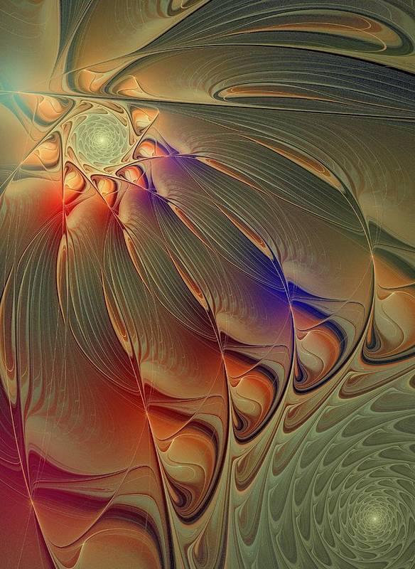 Digital Art Art Print featuring the digital art Petalia by Amanda Moore