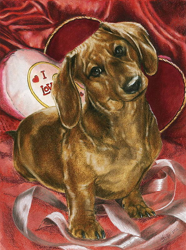 Purebred Art Print featuring the mixed media Please Be Mine by Barbara Keith