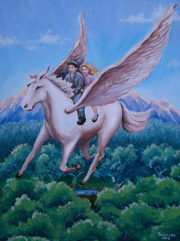 Horse Art Print featuring the painting Polly And Diggory by Paul Choate