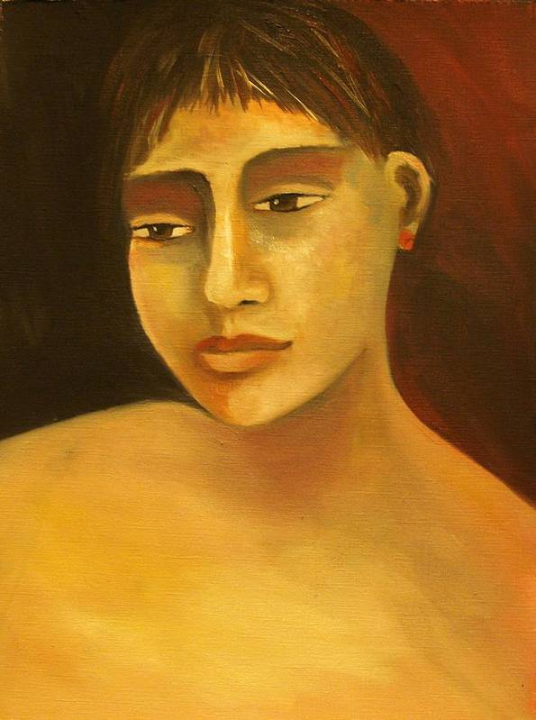 Portrait Art Print featuring the painting Portrait Number Eight by Niki Sands