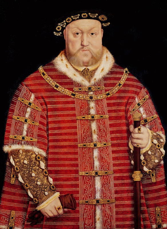 Henry Art Print featuring the painting Portrait Of Henry Viii by Hans Holbein the Younger