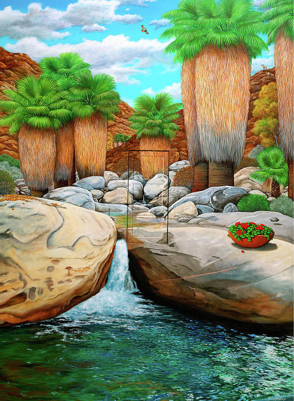Landscape Art Print featuring the painting Primary Escape Route by Snake Jagger