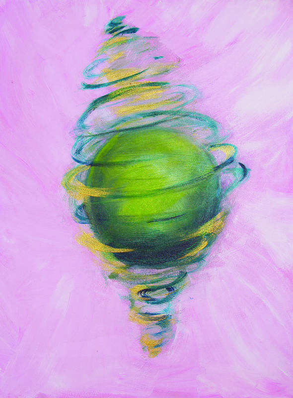 Abstract Art Print featuring the painting Prosperity by Cecilia August Sand