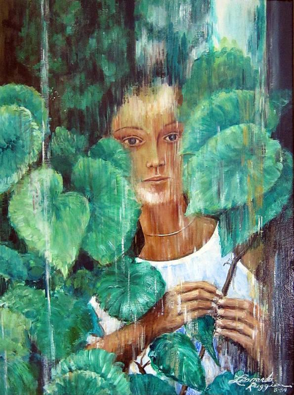 Rainy Day Art Print featuring the painting Rainy Day by Leonardo Ruggieri