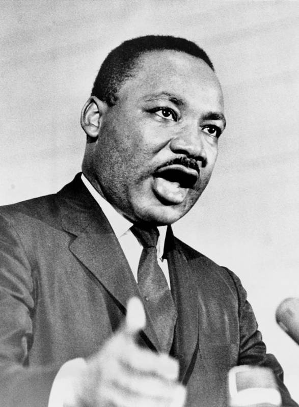 History Art Print featuring the photograph Rev. Martin Luther King, Speaking by Everett