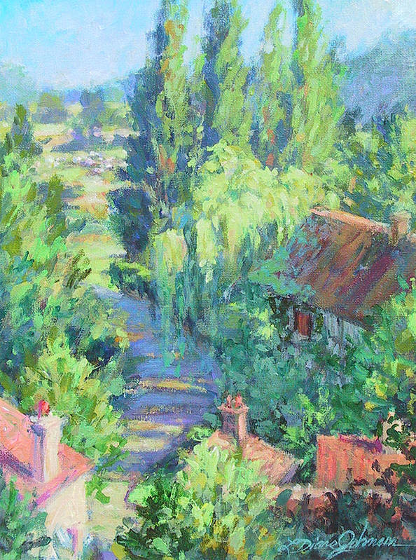 France Art Print featuring the painting Road To Giverny by L Diane Johnson