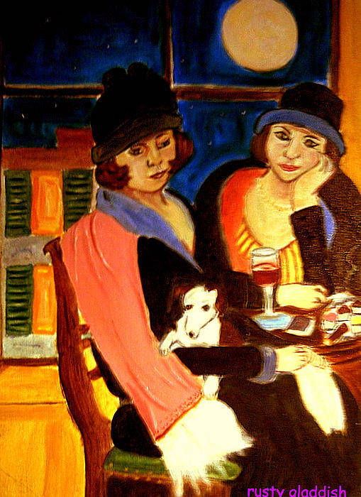 1920s Art Print featuring the painting Sad Cafe by Rusty Gladdish