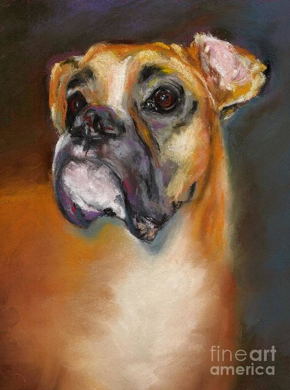 Dogs Art Print featuring the pastel Sam by Frances Marino