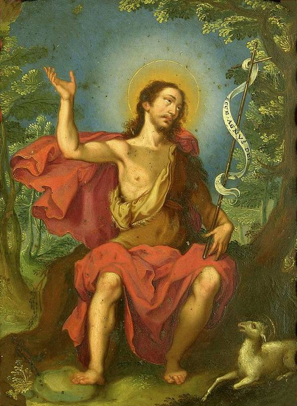 Religious Art Print featuring the painting San Juan Bautista by Unknown