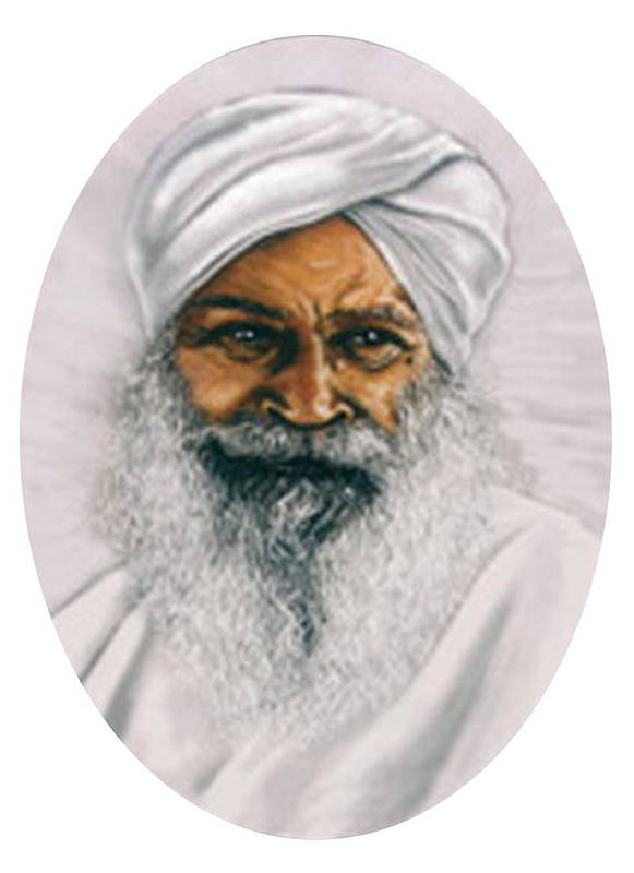 Pastels Art Print featuring the painting Sant Kirpal Singh by Winifred Ann Weishampel