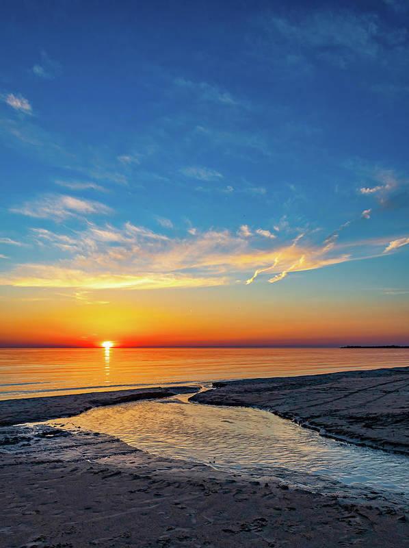 Steve Harrington Art Print featuring the photograph Sauble Beach Sunset 5 by Steve Harrington
