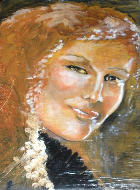 Angels Art Print featuring the painting Savannah Smiles Again Finished by J Bauer