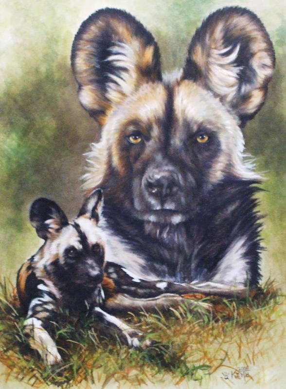 Wild Dogs Art Print featuring the mixed media Scoundrel by Barbara Keith