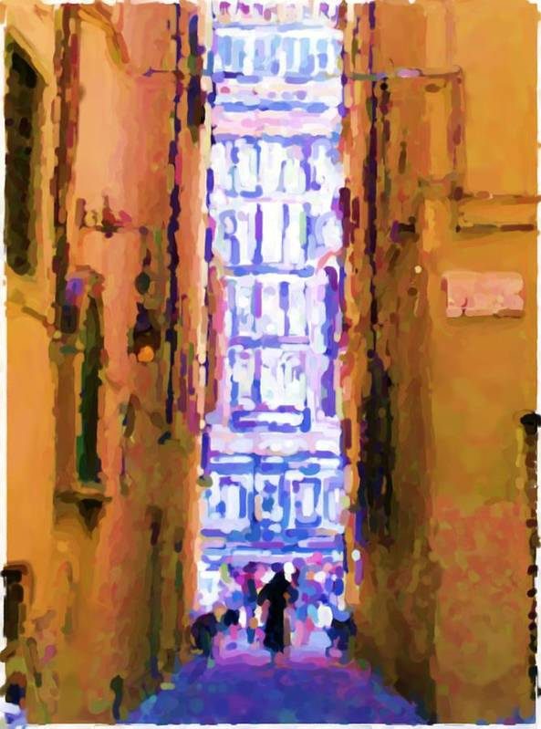 Via Della Canonica Art Print featuring the photograph See The Dome In Florence by Asbjorn Lonvig