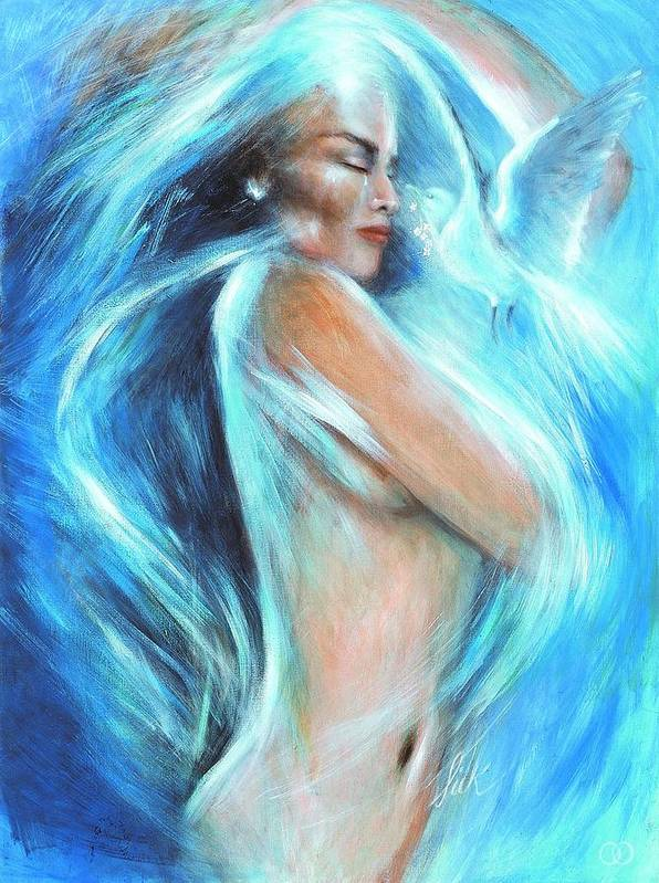 Vision Art Print featuring the painting Self Love by Elizabeth Silk