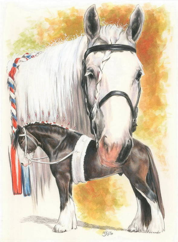 Shire Art Print featuring the mixed media Shire by Barbara Keith