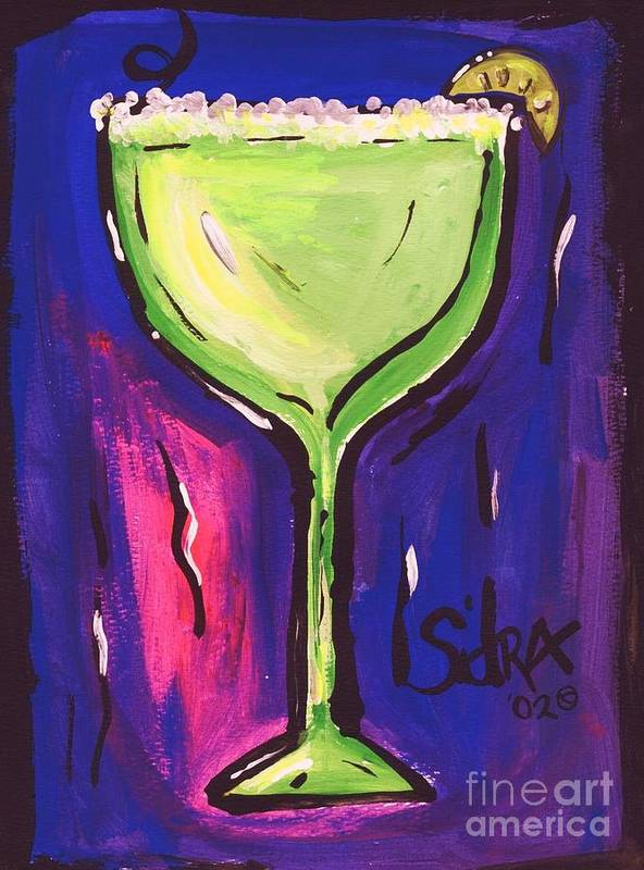 Margarita Art Print featuring the painting Sidzart Pop Art Series 2002 Margarita Baby by Sidra Myers