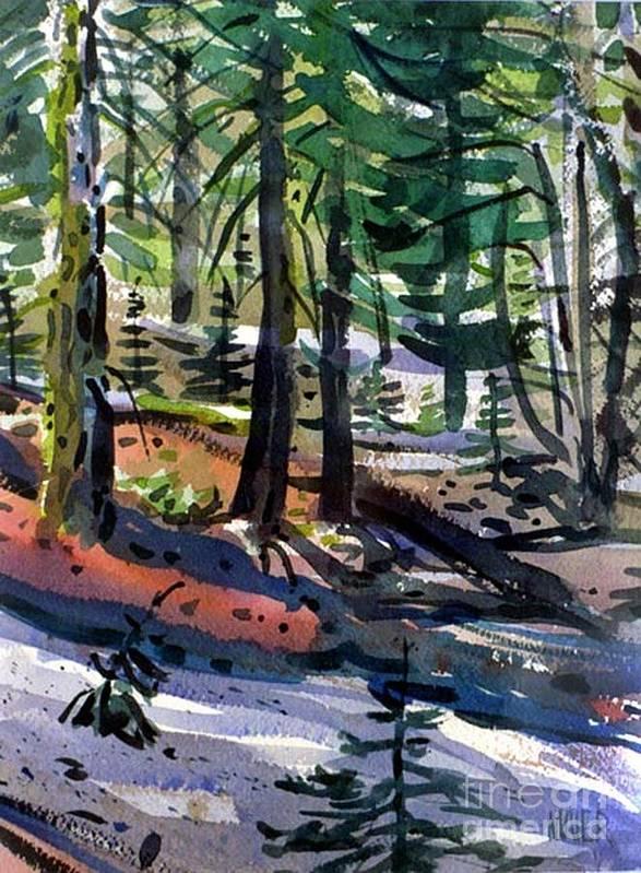 Sierra Nevadas Art Print featuring the painting Sierra Snowdrifts by Donald Maier