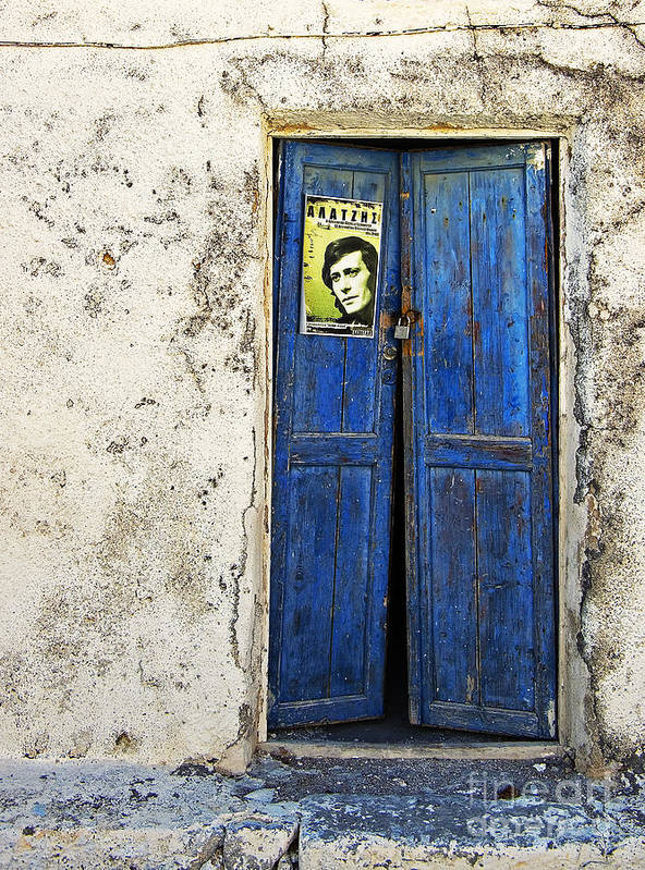 Door Art Print featuring the photograph Singin' The Blues by Meirion Matthias