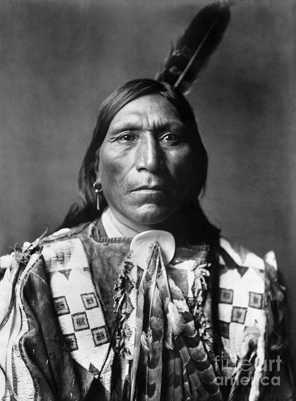1907 Art Print featuring the photograph Sioux Man, C1907 by Granger