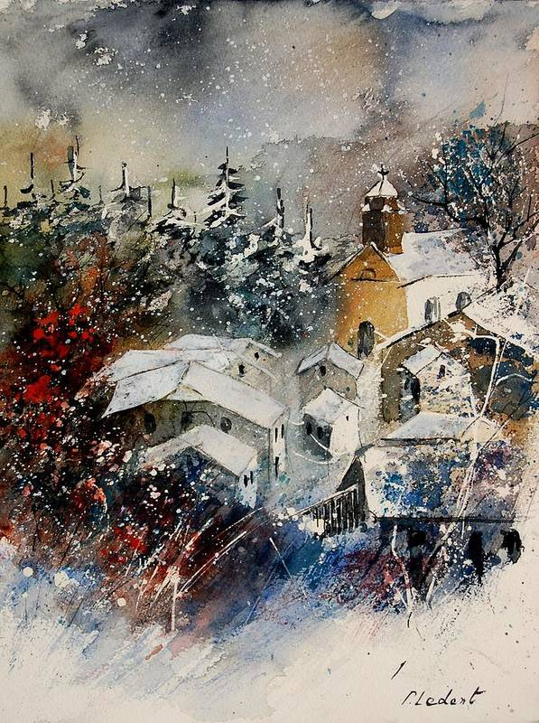Landscape Art Print featuring the painting Snon In Frahan by Pol Ledent