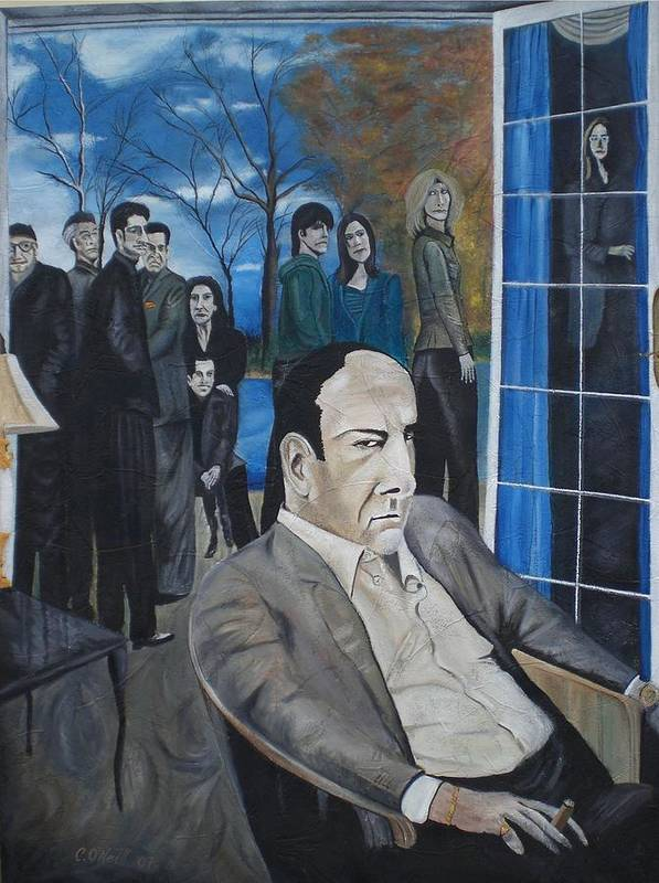 Tony Soprano Art Print featuring the painting Sopranos by Colin O neill