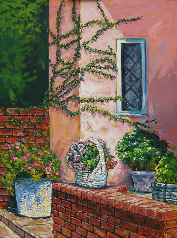 Pink Art Print featuring the painting Springtime by Karen Doyle