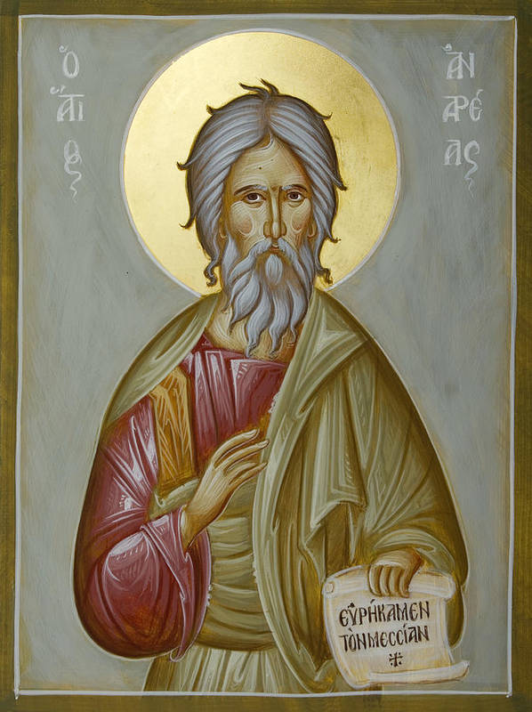 Icon Print featuring the painting St Andrew The Apostle And First-called by Julia Bridget Hayes