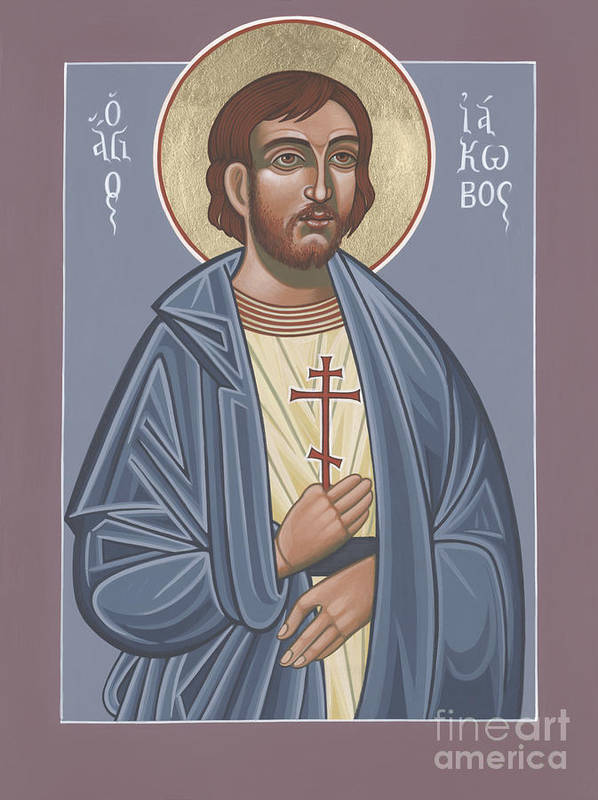 St James The Lesser Art Print featuring the painting St James The Lesser 254 by William Hart McNichols