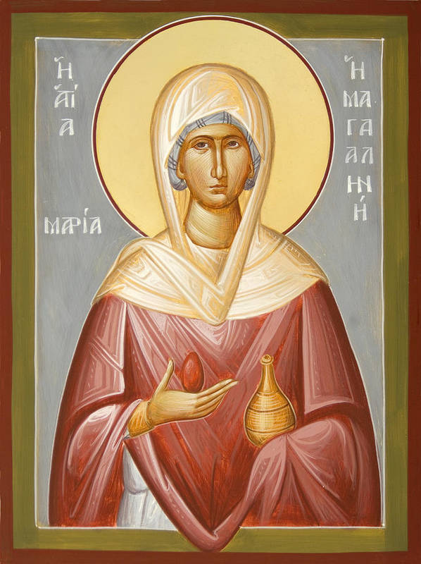 St Mary Magdalene Art Print featuring the painting St Mary Magdalene by Julia Bridget Hayes