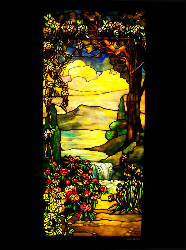 Stained Glass Art Print featuring the photograph Stained Landscape by Donna Blackhall