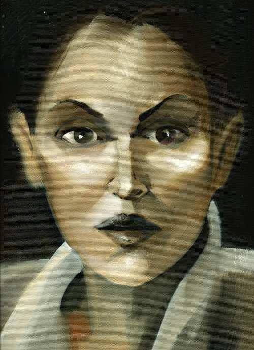 Girl Art Print featuring the painting Stare by Neal Cormier