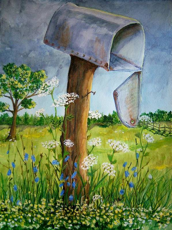 Watercolor Art Print featuring the painting Storm by Patricia R Moore