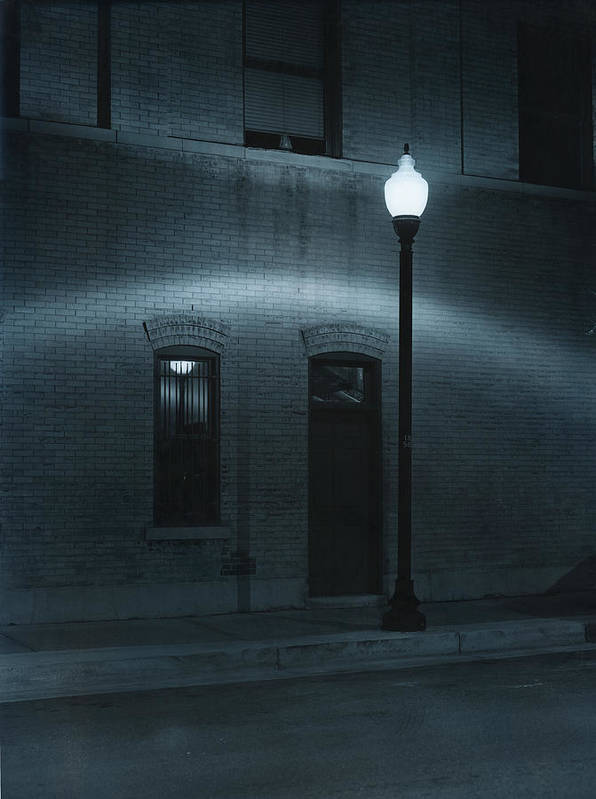Street Light Art Print featuring the photograph Street Lamp Arc by Jim Furrer
