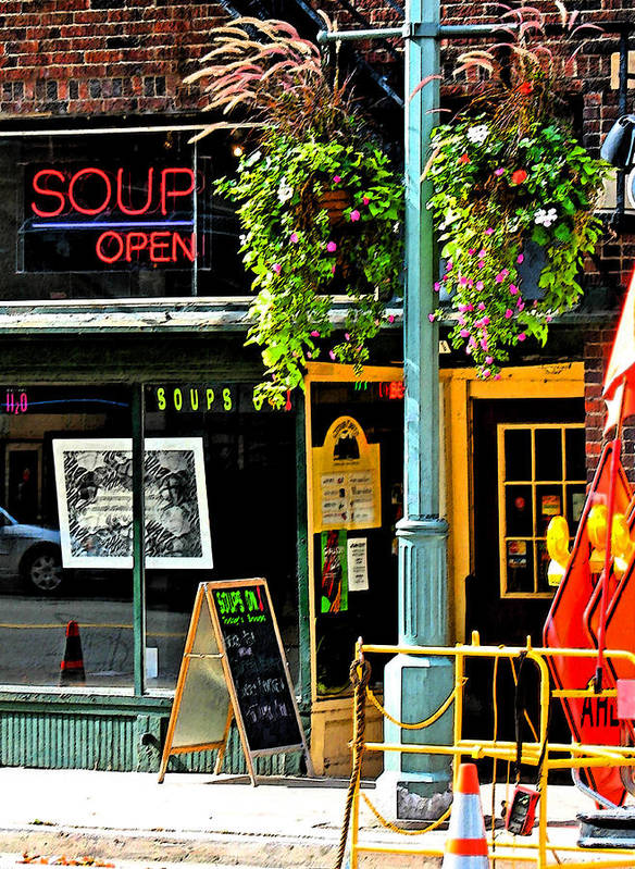 Urban Art Print featuring the photograph Streetscape 1 Soup by Gary Everson