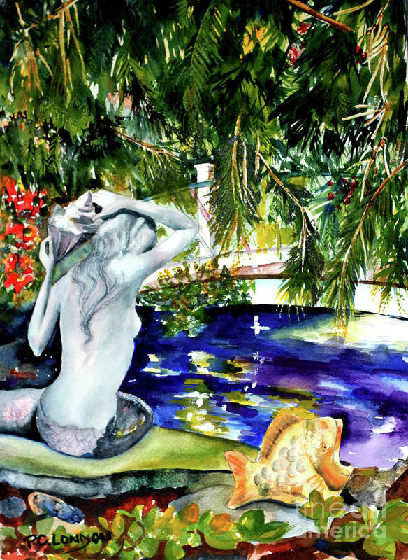 Mermaid Art Print featuring the painting Summer Splendor by Phyllis London